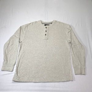 RedHead Long Sleeve Henley Beige Mens Medium